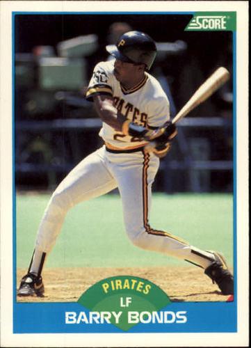 Photo of 1989 Score #127 Barry Bonds