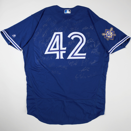 Photo of 2019 Jackie Robinson Day Jersey - Toronto Blue Jays Team Autographed Jersey