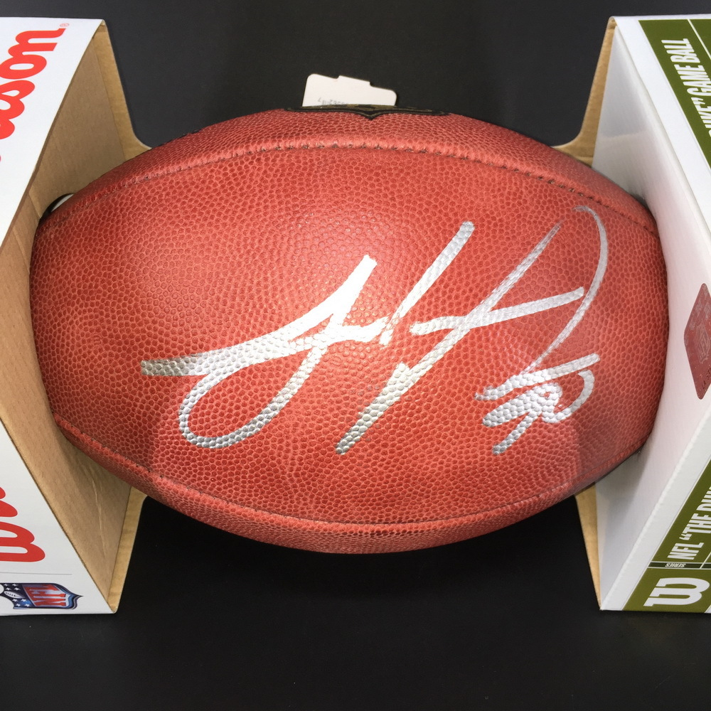 Panthers - Julius Peppers Signed Authentic Football