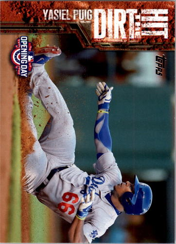 Photo of 2015 Topps Opening Day Hit the Dirt #HTD12 Yasiel Puig
