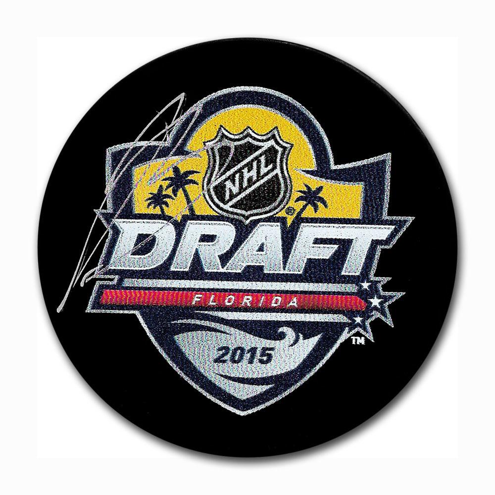 Jeremy Bracco Autographed 2015 NHL Entry Draft Puck