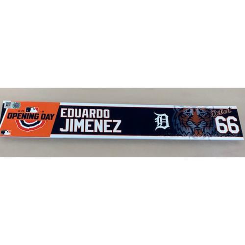 Photo of 2019 Opening Day Locker Name Plate: Eduardo Jimenez