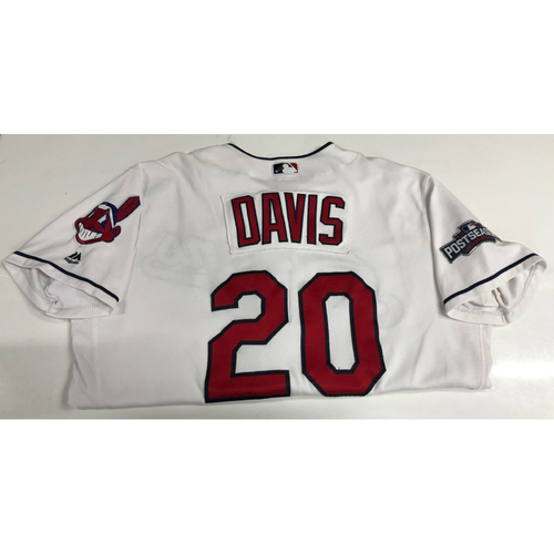 Rajai Davis Team Issued 2016 Post Season Home Jersey