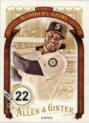 Photo of 2016 Topps Allen and Ginter The Numbers Game #NG77 Robinson Cano