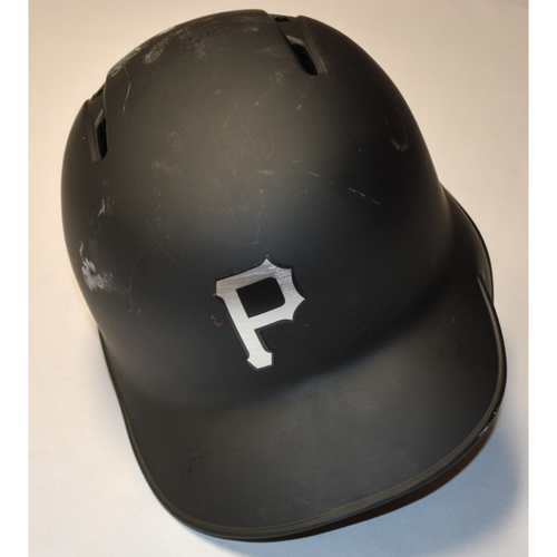 "Photo of Josh ""JB"" Bell Pittsburgh Pirates Game-Used 2019 Players' Weekend Helmet (Right-Handed)"