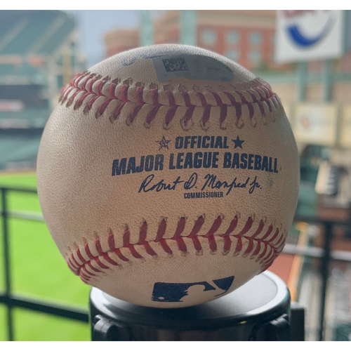 Photo of Houston Astros Game-Used Baseball: Pitcher: Ty Buttrey, Batter: Martin Maldonado - 2-Run HR - Bot 7 - 8/25/19 vs. LAA
