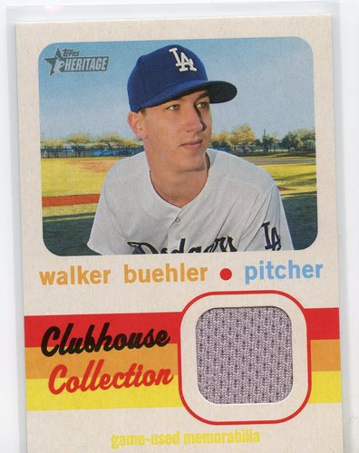 Photo of 2020 Topps Heritage Clubhouse Collection Relics #CCRWB Walker Buehler