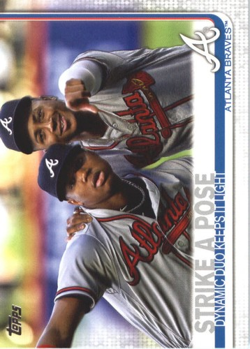 Photo of 2019 Topps #508 Strike a Pose/Ozzie Albies/Ronald Acuna Jr.