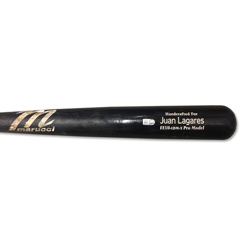 Photo of Juan Lagares #12 - Team Issued Full Bat - Black Marucci Model - 2019 Season
