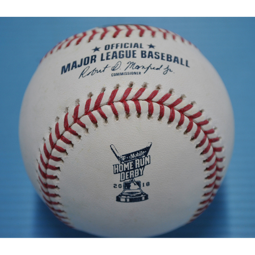 Photo of Game-Used Baseball - 2018 Home Run Derby - Javier Baez - Round 1, Out