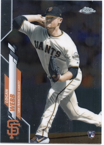 Photo of 2020 Topps Chrome #117 Logan Webb RC