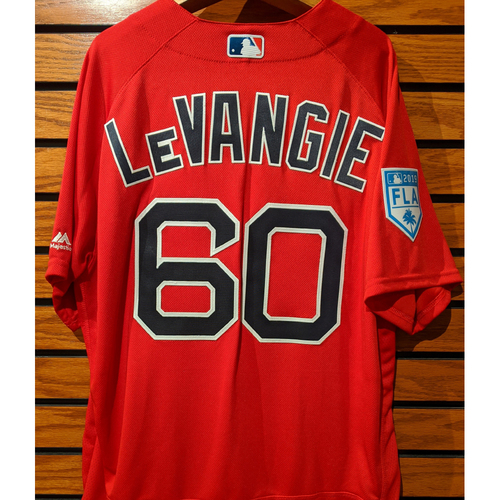 Photo of Coach Dana LeVangie #60 2019 Spring Training Team Issued Red Jersey