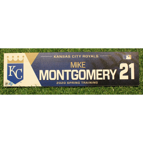 Photo of Game-Used 2020 Spring Training Locker Tag: Mike Montgomery #21