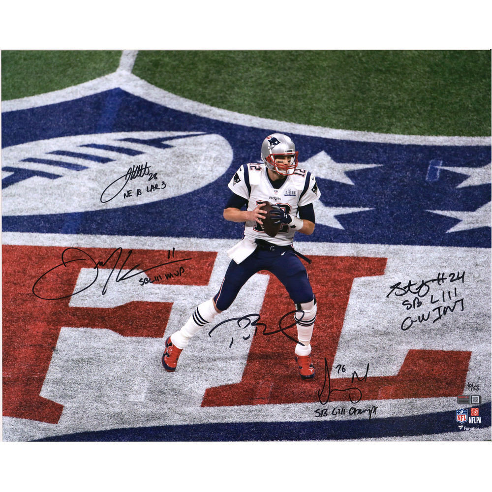 New England Patriots Multi-Signed Super Bowl LIII 16'' x 20'' Photo - Limited Edition #6/53