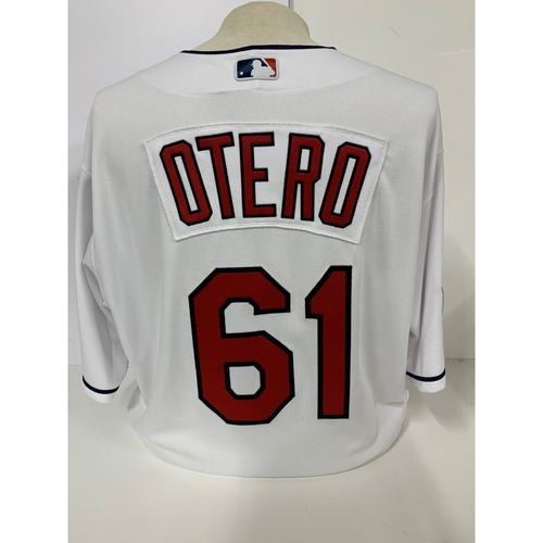 Photo of Team Issued Jersey - Dan Otero #61 - Size 48 - Wahoo Patch - 2016 World Series Patch