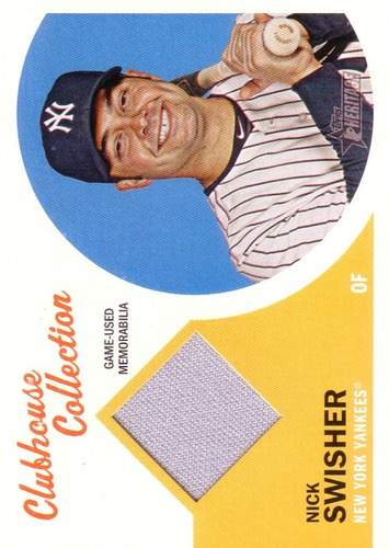 Photo of 2012 Topps Heritage Clubhouse Collection Relics #NS Nick Swisher