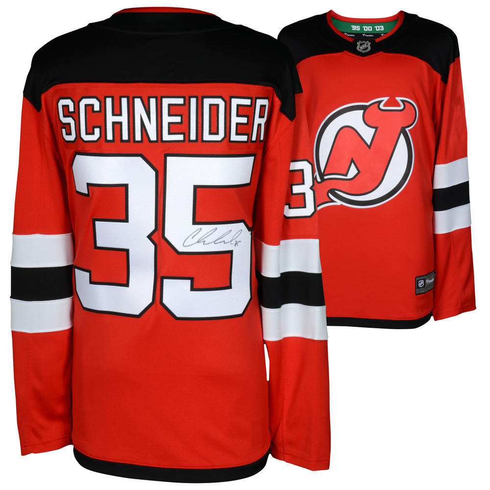 Cory Schneider New Jersey Devils Autographed Red Fanatics Breakaway Jersey