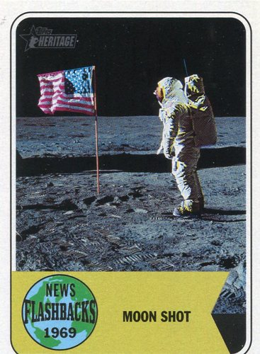 Photo of 2018 Topps Heritage News Flashbacks #NF1 Apollo 11 Moon Landing