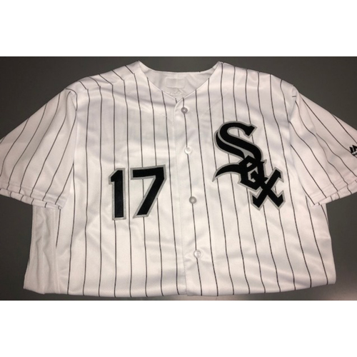 Photo of Rick Renteria Autographed White Pinstriped Jersey