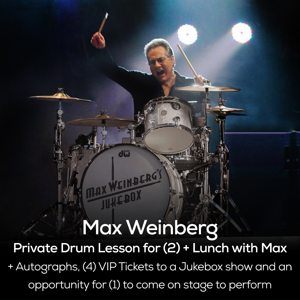 Private Drum Lesson and Lunch with Mighty Max + Four Tickets to Max Weinberg's Jukebox Show