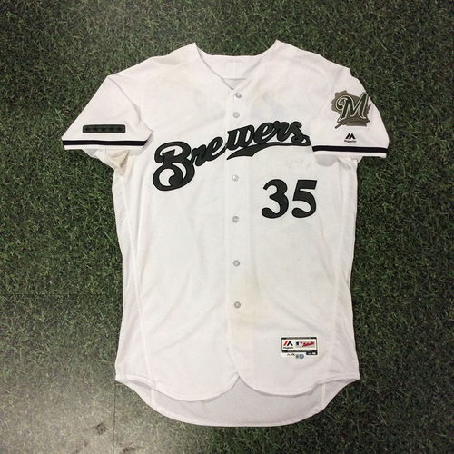 official photos 4b6bf d2d37 MLB Auctions | Brent Suter Game-Used 2018 Memorial Day ...