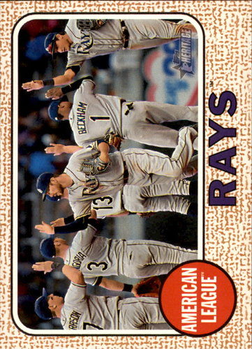 Photo of 2017 Topps Heritage #27 Tampa Bay Rays TC