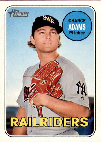 Photo of 2018 Topps Heritage Minors #174 Chance Adams