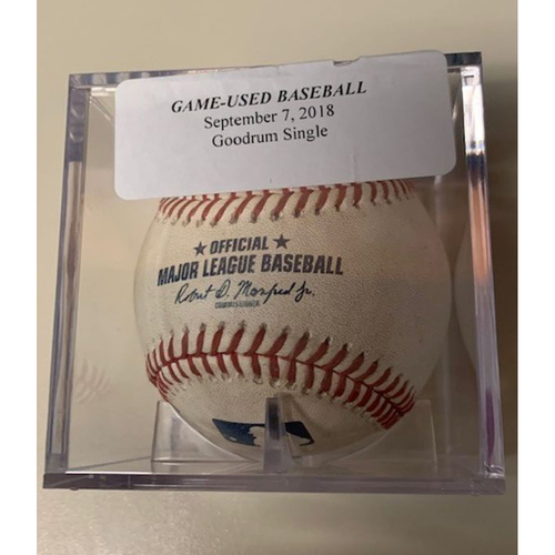 Photo of Game-Used Baseball: Niko Goodrum Single