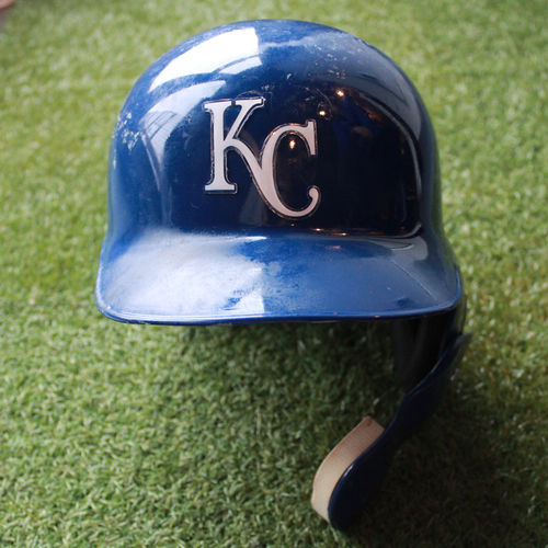 Photo of Game-Used Helmet: Jorge Bonifacio (Size 7 3/8 - CLE @ KC - 9/30/18)
