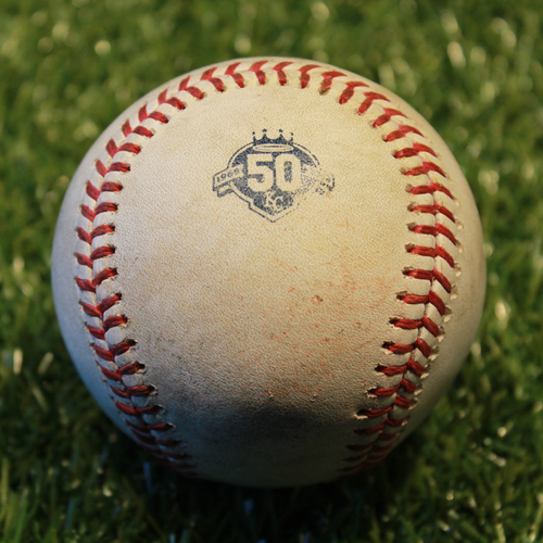 Game-Used Baseball: Nomar Mazara 352nd Career Hit (6/19/18 - TEX @ KC)