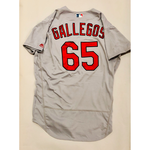 Photo of 2019 Mexico Series Game Used Jersey - Giovanny Gallegos Size 48 (St. Louis Cardinals)