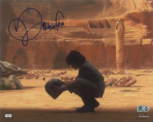 Daniel Logan As Boba Fett 8X10 Autographed in Blue Ink Photo