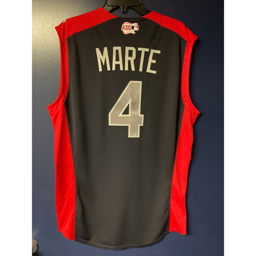 Photo of Ketel Marte 2019 Major League Baseball Workout Day Autographed Jersey