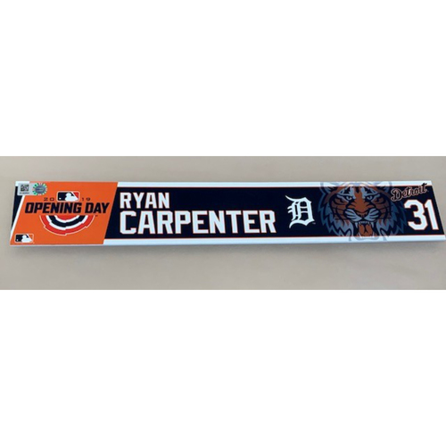 Photo of 2019 Opening Day Locker Name Plate: Ryan Carpenter