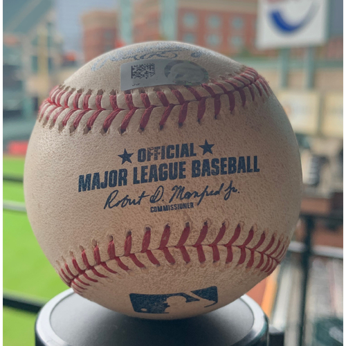 Photo of Houston Astros Game-Used Baseball: Pitcher: Collin McHugh, Batter: Elvis Andrus - Single - Top 6 - 5/12/19 vs. TEX