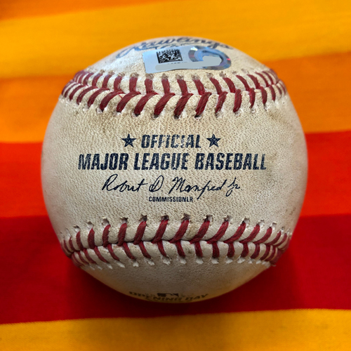 Photo of Opening Day 2020 Game-Used Baseball: Justin Verlander to Evan White (Strikeout) and Kyle Seager (2 Pitches)