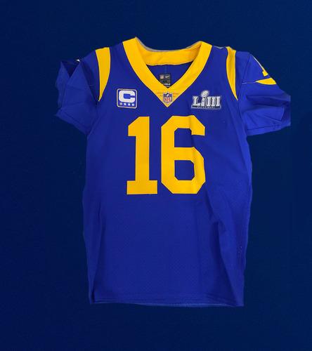 Photo of Jared Goff Super Bowl LIII Media Jersey