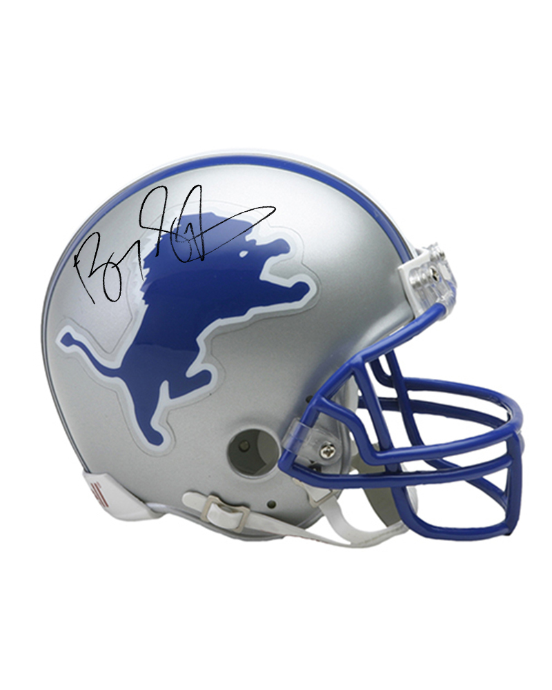 LIONS - BARRY SANDERS SIGNED & PERSONALIZED MINI HELMET