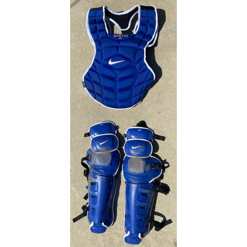 Photo of Will Smith Authentic Game-Used Catchers Gear from 5/11/21 Game vs. SEA