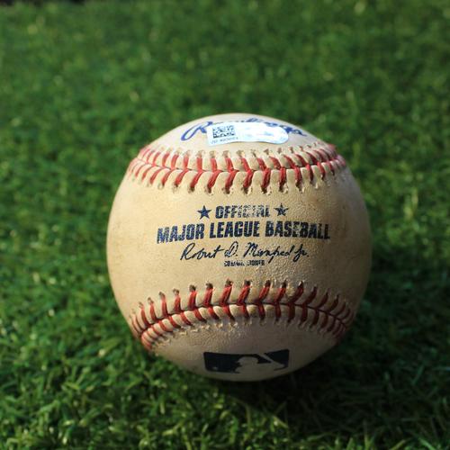 Photo of Game-Used Baseball: Marwin Gonzalez 784th Career Hit (MIN@KC 8/23/20)