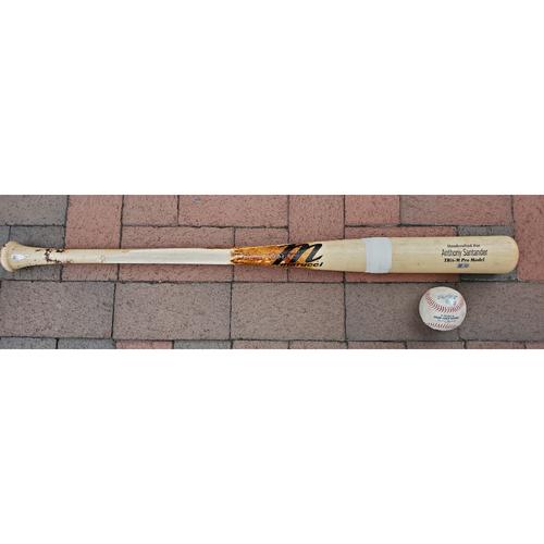 Photo of Anthony Santander: 2021 Game-Used Broken Bat and Baseball Combo