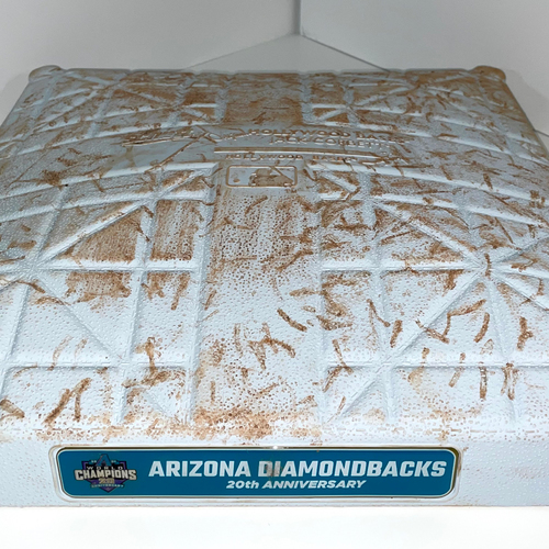 Photo of Game-Used Second Base (Innings 4 - 6) 20th Anniversary of D-backs World Series - Mariners @ D-backs 9/4/2021