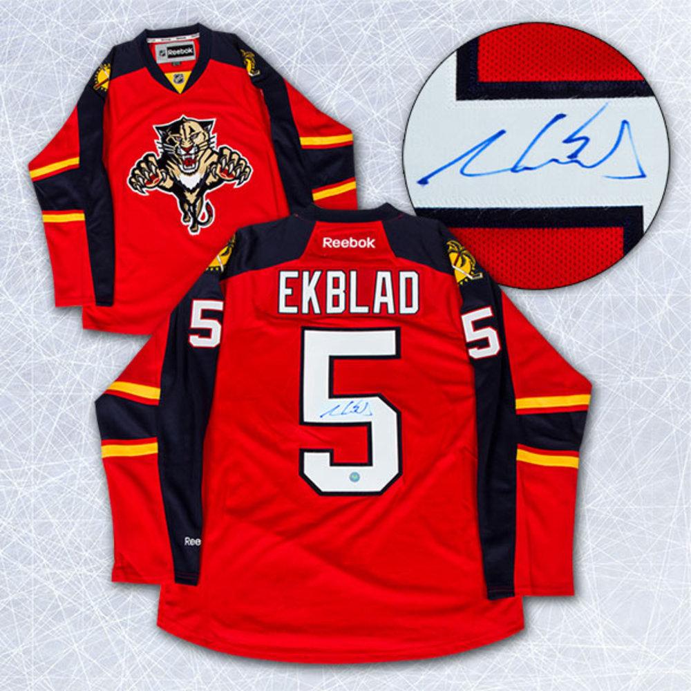 pretty nice fd8b9 c184e Aaron Ekblad Florida Panthers Autographed Reebok Premier ...