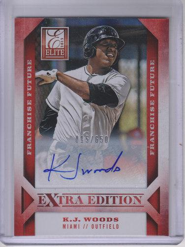 Photo of 2013 Elite Extra Edition Franchise Futures Signatures #36 K.J. Woods/650