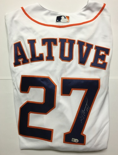 Photo of Jose Altuve Autographed Authentic Astros Jersey
