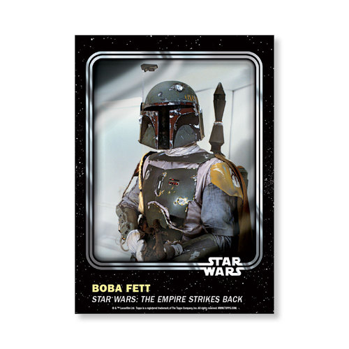 Boba Fett 2016 Star Wars Card Trader Base Poster - # to 99