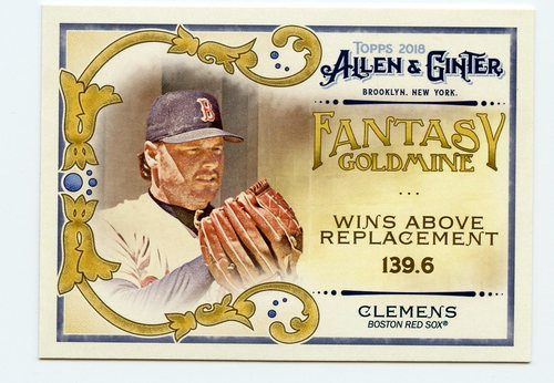 Photo of 2018 Topps Allen and Ginter Fantasy Goldmine #FG45 Roger Clemens