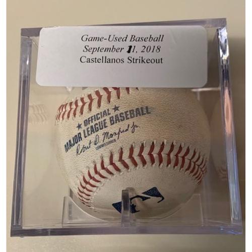 Photo of Game-Used Baseball: Will Harris Strikeout of Nicholas Castellanos