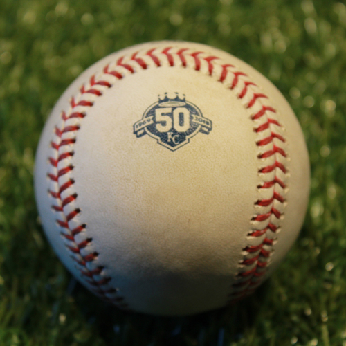 Photo of Game-Used Baseball: Yandy Diaz 74th Career Hit (9/27/18 - CLE @ KC)