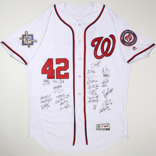 Photo of 2019 Jackie Robinson Day Jersey - Washington Nationals Team Autographed Jersey